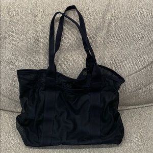 Black Mesh Beach Tote Bag New